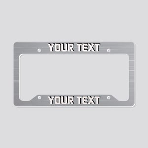 Your Text Aluminum Shadow License Plate Holder