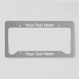 Custom Aluminum License Plate Holder