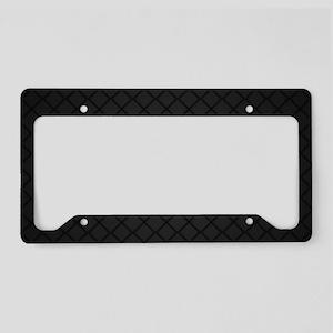 Black Pattern License Plate Holder