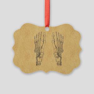 Vintage Foot Bones Ornament