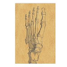 Vintage Foot Bones Postcards (Package of 8)