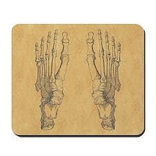 Vintage Foot Bones Mousepad