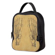 Vintage Foot Bones Neoprene Lunch Bag
