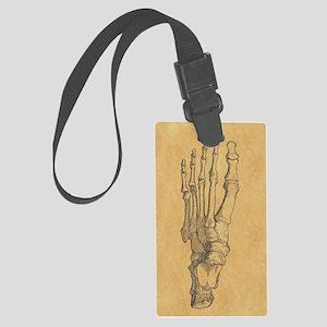 Vintage Foot Bones Luggage Tag