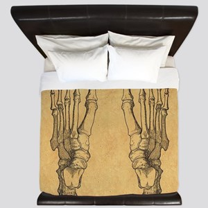 Vintage Foot Bones King Duvet
