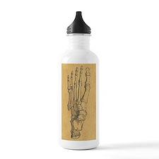 Vintage Foot Bones Water Bottle