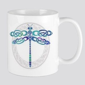 Celtic Dragonfly - Blue with Silver Mug