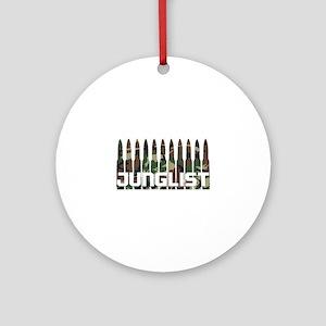 Junglist Camo Bullets Ornament (Round)