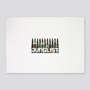 Junglist Camo Bullets 5'x7'Area Rug