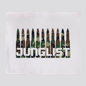 Junglist Camo Bullets Throw Blanket