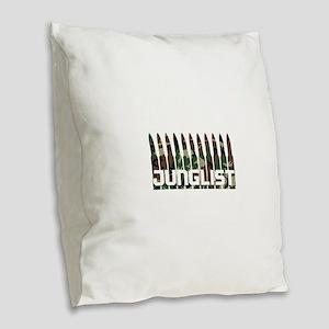 Junglist Camo Bullets Burlap Throw Pillow