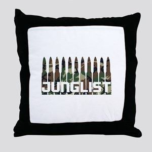 Junglist Camo Bullets Throw Pillow
