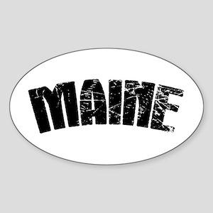 Maine ME Euro Oval Sticker (Oval)