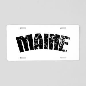 Maine ME Euro Oval Aluminum License Plate