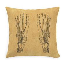 Vintage Foot Bones Everyday Pillow