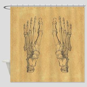 Vintage Foot Bones Shower Curtain