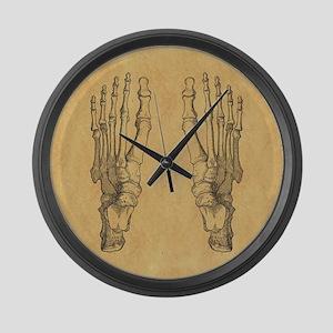 Vintage Foot Bones Large Wall Clock