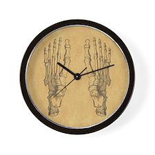 Vintage Foot Bones Wall Clock