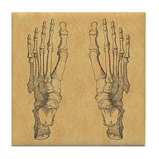 Vintage Foot Bones Tile Coaster