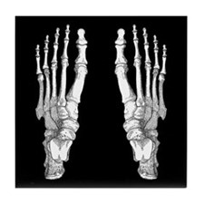 Foot Bones Tile Coaster