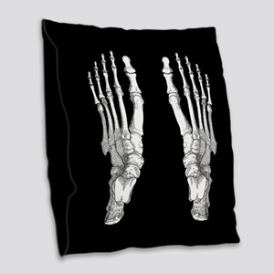 Foot Bones Burlap Throw Pillow