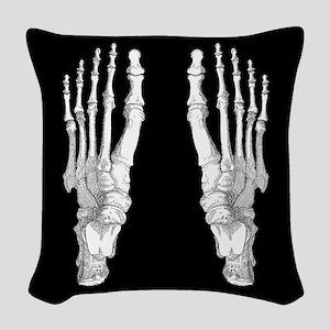 Foot Bones Woven Throw Pillow
