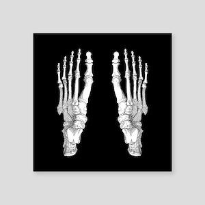 "Foot Bones Square Sticker 3"" x 3"""