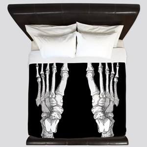 Foot Bones King Duvet