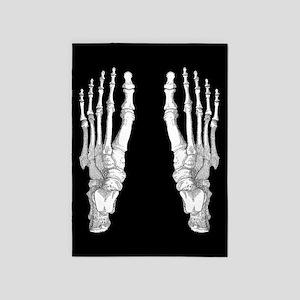 Foot Bones 5'x7'Area Rug