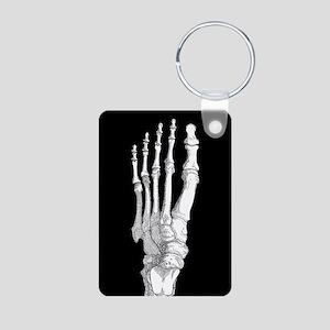 Foot Bones Aluminum Photo Keychain