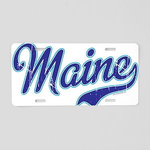 Maine Vintage Aluminum License Plate