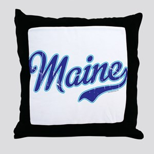 Maine Vintage Throw Pillow