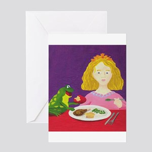 Frog and Princess Greeting Cards
