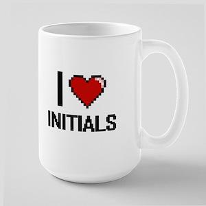 I Love Initials Mugs