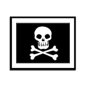 Pirate Flag Skull And Crossbones Framed Panel Prin