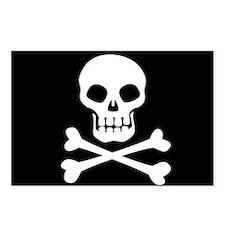 Pirate Flag Skull And Crossbones Postcards (Packag
