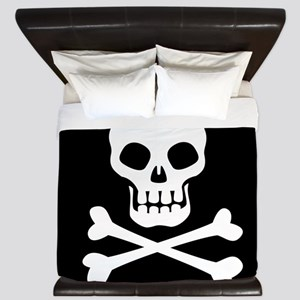 Pirate Flag Skull And Crossbones King Duvet