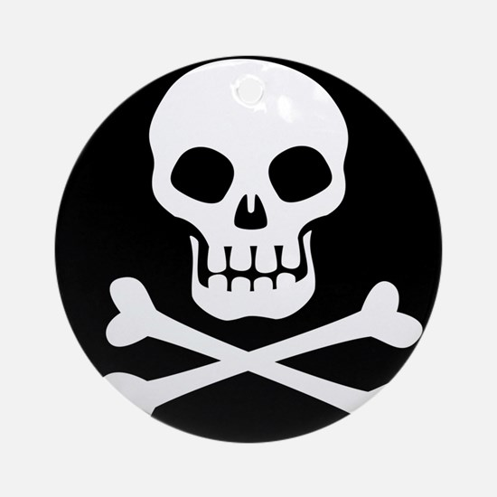 Pirate Flag Skull And Crossbones Ornament (Round)