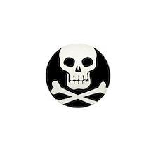 Pirate Flag Skull And Crossbones Mini Button