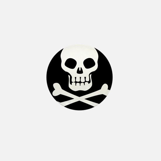 Pirate Flag Skull And Crossbones Mini Button