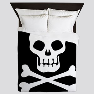 Pirate Flag Skull And Crossbones Queen Duvet