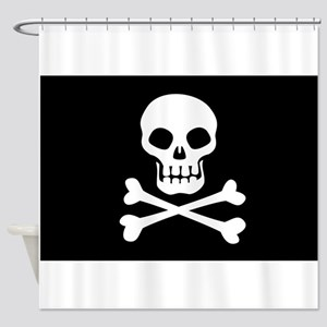 Pirate Flag Skull And Crossbones Shower Curtain