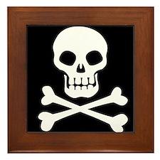 Pirate Flag Skull And Crossbones Framed Tile