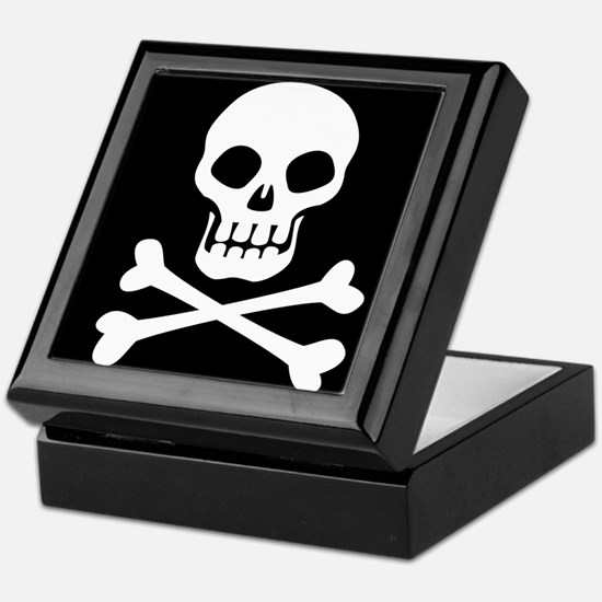 Pirate Flag Skull And Crossbones Keepsake Box