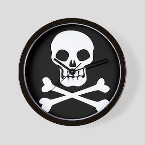 Pirate Flag Skull And Crossbones Wall Clock