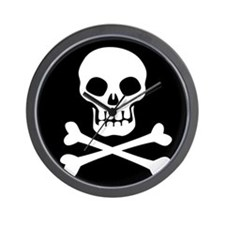 Pirate Flag Skull And Crossbones Wall Clock