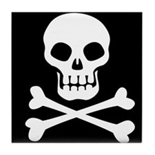 Pirate Flag Skull And Crossbones Tile Coaster
