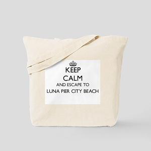 Keep calm and escape to Luna Pier City Be Tote Bag