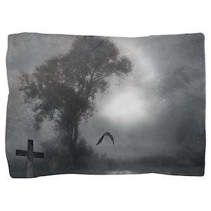Bat Grave Night Pillow Sham