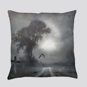 Bat Grave Night Everyday Pillow